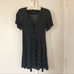 Zara Button-Up Polka Dot Dress